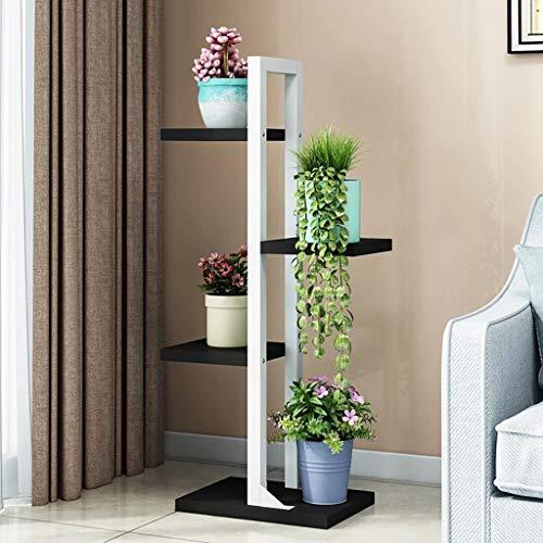 Support de fleur en métal Porte-fleurs, 4e étage Fer multicouche intérieur Atterrissage Économie de l'espace Séjour pour étagères à fleurs Porte-pots de fleurs (Couleur : A2)