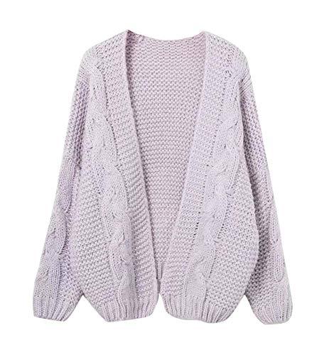 Keephen Hohe Qualität Plus Dicke Wolle Hand-Stricken Pullover Strickjacke Outwear Frauen Pullover
