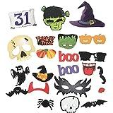 22xKentop Halloween Photo Booth Photocall Foto Apoyos Creativa Divertida Barba de Papel de Terror para Fiesta Halloween Navidad