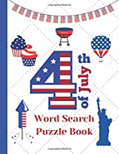 4th of July Word Search puzzle book: American Independence Day themed Activity book for kids and adults