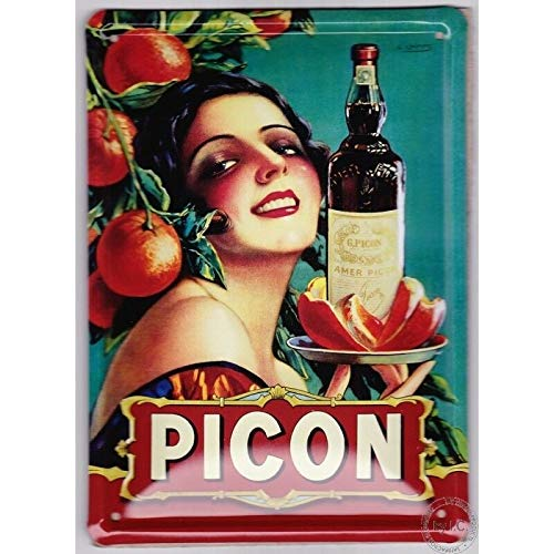 French Vintage Metal Sign 20x 15cm retro ad Picon birra