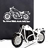 'Carte pop-up Moto–Harley Davidson–3D Card Motorbike/bon d'achat d'invitation, Voyage, Moto Moto Carte