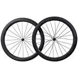 55mm Carbone Roue de Vélo Route Clincher Tubeless Ready 25mm Large Novatec Moyeu Shimano 10/11...