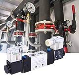MOZUSA Válvula solenoide eléctrica, 4V220-08 1/4'Outlet de Entrada de 1/8' 1/8'Válvula de Aire de solenoide neumático de Escape 2 Posición Controlador magnético electromagnético de 5 vías (AC220V)