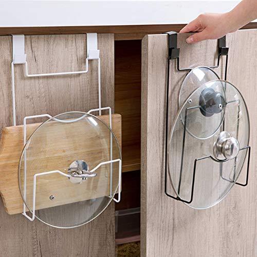 Topfdeckelhalter und Organizer Wand-/Türmontage,  vielseitig einsetzbar, für die Küche, aus Organizer für Topfdeckel Free Size Schwarz