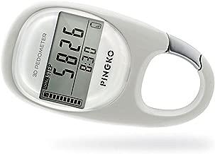 PINGKO 3D Carabiner Walking Pedometer Best Activity Fitness Tracker