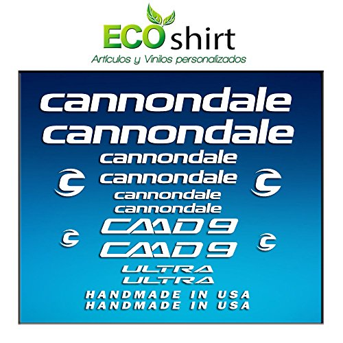 Ecoshirt C4-SDOD-IOJ8 stickers lijst Cannondale CADD 9 Am27 stickers Decals Sticker Bike BTT MTB Cycle, wit