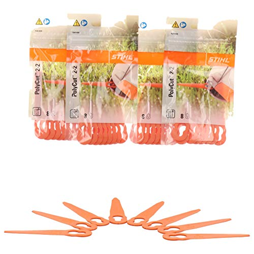 Stihl Polycut 2-2 Plastic Knife for Fsa 45 Grass Trimmer 32 Pieces 40080071000