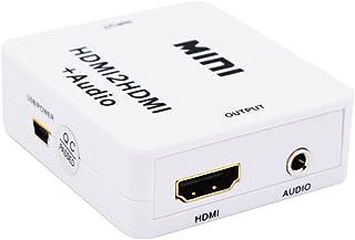 figatia Conversor Mini HDMI2HDMI + AUDIO R/L com Saída de Alto-falante