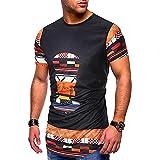 Camiseta Hombre Moderna Tendencia Moda Cabeza Toro Estampado Hombre Shirt Verano Básico Clásico Cuello Redondo Manga Corta Urbana Diaria Casual Transpirable Sudadera Capucha