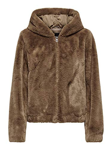 Only ONLMALOU Faux Fur Hood Jacket CC OTW Chaqueta, Coconut Toasted, XL para Mujer