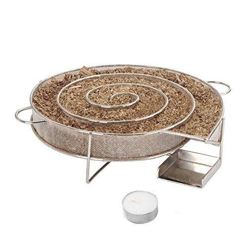 Hpybest Cold Smoke Generator per Barbecue o Smoker Polvere di Legno Caldo e Freddo Smoking Salmone Carne Burn Acciaio Barbecue di Cottura Strumenti