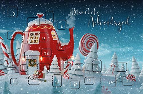 10 Weihnachtskarten Adventskalender hochwertige Grußkarten Karte Hülle 220-5193
