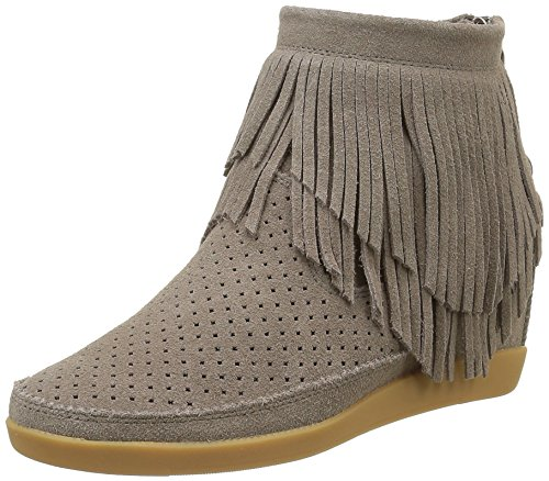 SharmaTHE BEAR dames Emmy Fringes hoge sneakers, beige (taupe), 39 EU