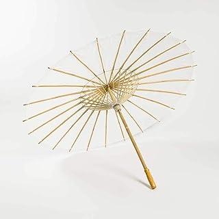 Quasimoon 100cm White Paper Parasol Umbrella by PaperLanternStore