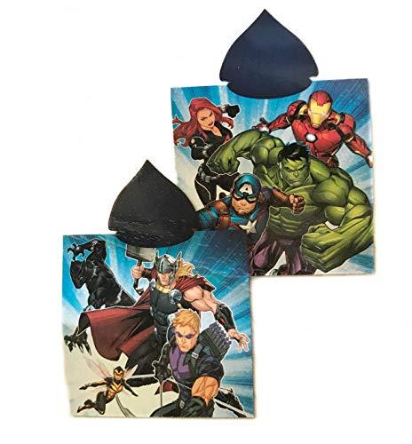 Toalla Avengers Poncho Microfibra, Capa Marvel Vengadores 50x100cm