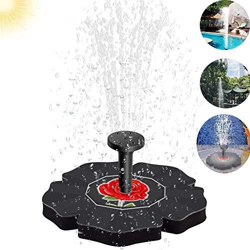 Fontein op zonne-energie met pomp voor vogels, 1,4 W, voor tuin, zwembad, vijver buitenshuis, zwemfontein voor decoratieve panelen.