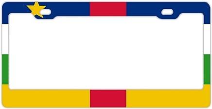 EXMENI Dominica - Marco para matrícula de Papel (Acero Inoxidable), Diseño de Bandera de Dominica
