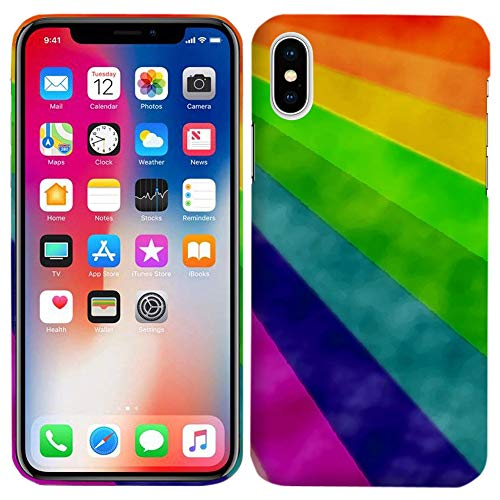 iPhone X (5.8 in) - Natural Watercolor Rainbow Wonderful Perfect Printed Slim Fit Case - TPU Hard Plastic - Sublimation case - Screen Production Case