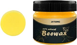 Möbelwachs farblos zur Möbelpflege & Holzschutz für innen und aussen, Möbelpflege Bienenwachs, Natürliche Holzpflege Bienenwachs Möbelwachs 100ml mit Schwamm