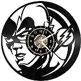 Vinyl Wanduhr Maske Mann Retro Umwelt Silhouette Registrierte handgemachte Geschenk Home Decoration Art 30Cm * 30Cm Vinyl Record Wanduhr