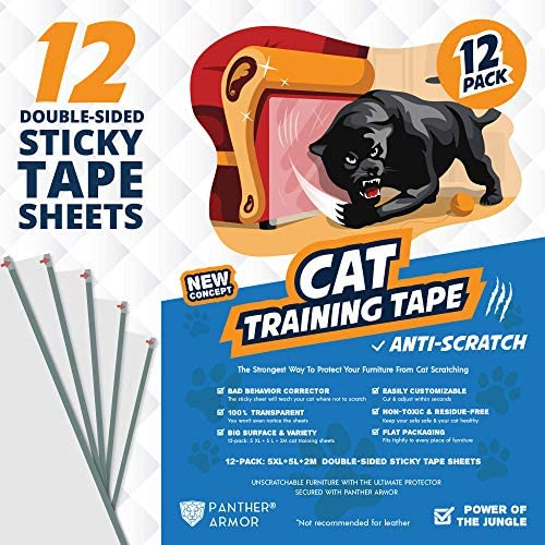 Panther Armor Cat Scratch Deterrent Tape 12 Pack Double Sided Anti Scratching Sticky Tape 5 product image