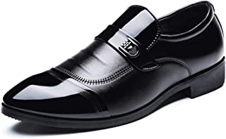 Amazon Xuzpki Hombre Negro Charol Botas De Para Eszapatos MqSUzGVp
