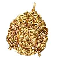 Hellery チベット仏教 仏アルヤアカラナタ ネックレスチャーム ネパールグッズ 仏具 神具 サイズ約4.2x5.5cm