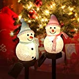 2Pack Christmas Decorations Solar Outdoor Lights Christmas Porch Light Snowman Decorations Outdoor Light for Porch Lights, Garage Lights, Large Light Fixtures, Outdoor Christmas Decorations