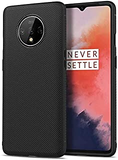 For Oneplus 7T Mobile Phone Case Oblique Texture Non-Slip Anti-Fall TPU Back Cover Protection Soft Case