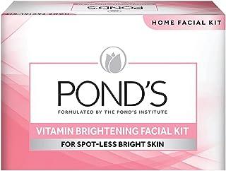 POND'S Vitamin Skin Brightening Home Facial Kit - With Face wash, Scrub, Nourishing cream , Massage Cream, Mask & Finishin...