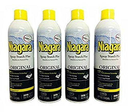 Niagara Spray Starch Plus 20oz - Original with DURAfresh Technology (4-Pack)