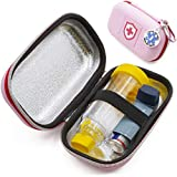 Casematix Pink Insulated Asthma Inhaler Case Bag for Kids or Adults Fits Chamber Spacer - Includes Med Alert I Have Asthma Tag