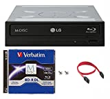 LG 16x WH16NS40 Internal Blu-ray Burner Bundle with 50GB Verbatim M-Disc BD-R DL
