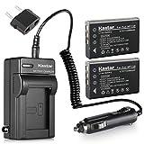 Kastar 2X Battery + Charger for Fujifilm NP-120 Pentax D-LI7 Ricoh DB-43 & FinePix 603 FinePix F10 F11 M603, KYOCERA Contax Tvs, Caplio 300G 400G G3 R330 RR10 RX, Contax BP-1500, Besteker DV-108