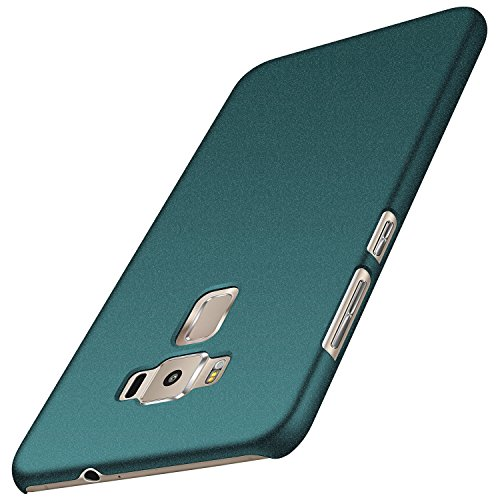 anccer Asus Zenfone 3 Hülle, [Serie Matte] Elastische Schockabsorption & Ultra Thin Design (Kies Grün)
