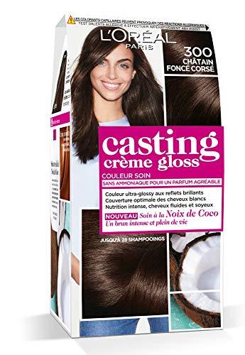 L'Oréal Paris Casting Crème Gloss Coloration Ton Sur Ton Sans Ammoniaque 3.00 Châtain Foncé Corsé - Lot de 2