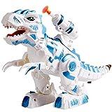 HERSITY Dinosaurios Electronico Robot Luz y Sonido Juego de Disparos Educativo Juguete Regalos para Nios Nias
