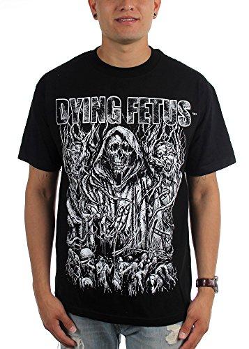 BOguan Dying Fetus - Mens Old School T-Shirt X-Large Black