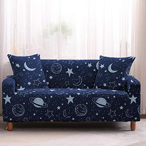 Funda elástica para sofá de sala de estar, diseño de universo, para sofá, seccional, antideslizante, 4 plazas, color 3