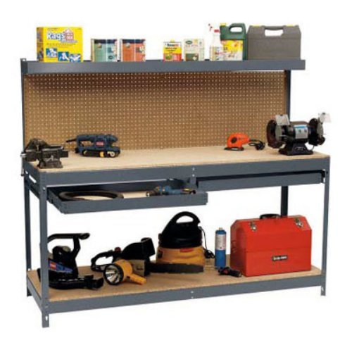 EDSAL Garage Metal Workbench With Drawers