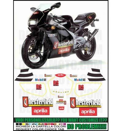 Emanuel & Co Kit adesivi Decal Stickers Aprilia RS 125 1994 EXTREMA Replica Chesterfield