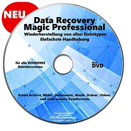 Data Recovery für PC - [DVD] Data Recovery MAGIC PRO WIN Wiederherstellung Gelöschter Daten, Fotos, Bilder, Datenrettung, Recovery, PC