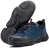 Zapatos de trabajo,botas de seguridad,impermeables,para hombre,con punta de acero,zapatillas de seguridad,protección ligera de kevlar,entresuela,zapatos de trabajo,botines,zapatillas de senderismo