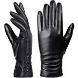 Womens Winter Genuine Leather Touchscreen Texting Warm Driving Lambskin 100% Pure leather Gloves
