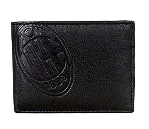 Milan prodotto ufficiale portafoglio uomo pelle con p.monete
