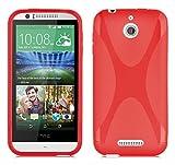 Cadorabo Hülle für HTC Desire 510 in Inferno ROT –
