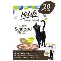 100% Natural Ingredients 60% Real Fish Hand Prepared & Grain Free No Soya & No GMOs No Artificial Additives