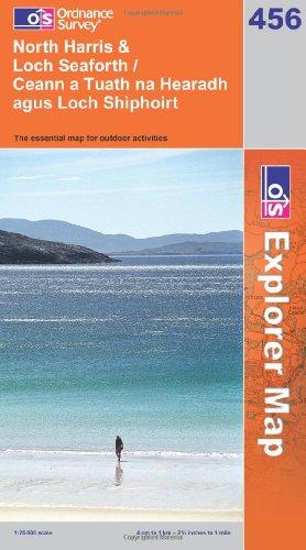OS Explorer map 456 : North Harris & Loch Seaforth / Ceann a Tuath na Hearadh agus Loch Shìphoirt