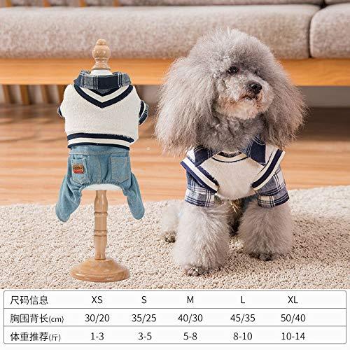 EDtara hond jas, hond outfits, kerst decoraties, geruite shirt tweedelige pak huisdier kleding Teddy beer kleine hond kat